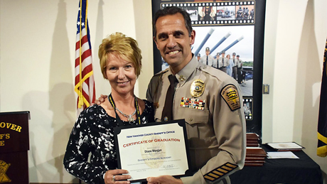 Professor Diane Morgan graduates from the New Hanover County Citizen's Academy