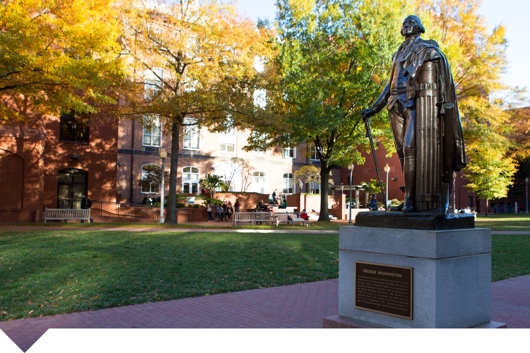 George Washington Statue in University Yard
