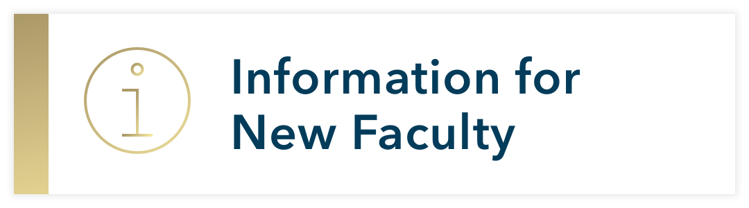 Information for new faculty