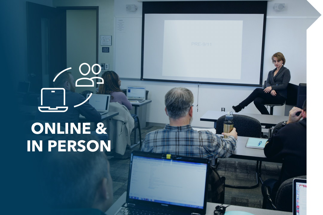 Online & in-person; classroom with professor and students