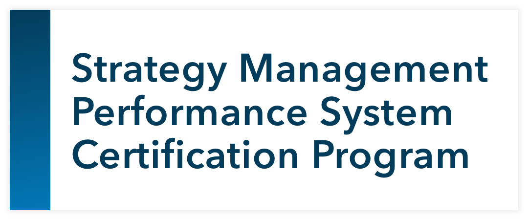 Strategy Management Performance System Certification Program