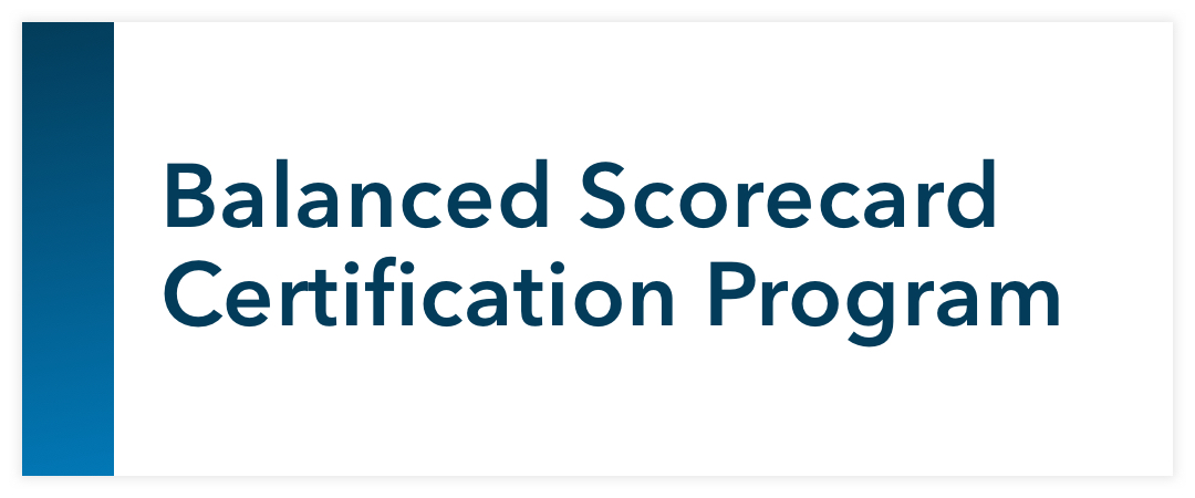 Balanced Scorecard Certification Program