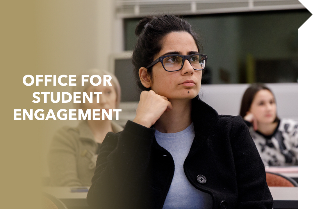 Office for Student Engagement; female student in class