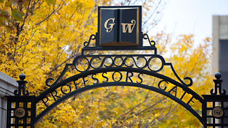 Professor's Gate on GW campus