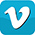 Blue square with white V - logo for vimeo