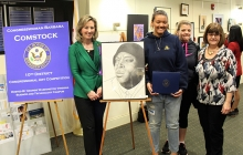 Rep. Comstock with winner of Congressional Art Show