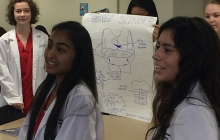 LCPS Students at GW workshop on health science careers