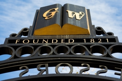 GW Founded 1821 Professors gate
