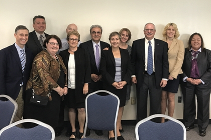 LeBlanc with CPS faculty