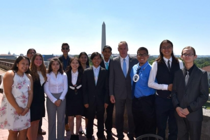 Secretary Zinke with American Indian High School Students (INSPIRE Program)