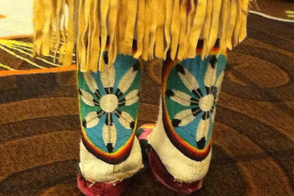 Indigenous Footwear from the Great Basin Tribes, Reno, Nevada (Photo: Wendy Helgemo).