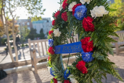 Memorial day wreath - GW Remembers